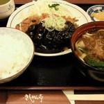 16004040 - '12/11/21 みそかつ定食(きしめん付き)980円