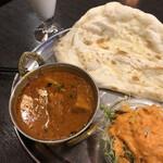 インド・ネパール料理 ヒルビュウ - Aランチポークバラカレー激辛