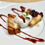 ランドアンドイアーズ - おかわり@パンプキンチーズケーキ、無花果のクランブルケーキ