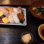 大衆酒場 ゑびす - にぎり寿司でら満腹10貫 味噌汁別オーダー