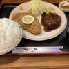 レストラン かつみ - 料理写真:ハンバーグとロースカツ1150円 ライス中盛+60円