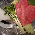旬味酒菜 味らく亭 - マグロ&剣いか