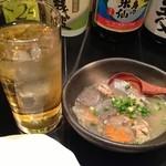 琉球 - 緑茶ハイとお通し