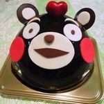 16010323 - くまモンケーキです♪熊本のゆるキャラがケーキになってます(^^)