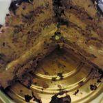 16010779 - チョココーティング、チョコスポンジ、チョコムース、ブリュレと重ねられた贅沢なくまモンケーキ(^^ )カットするのはもったいな~い!と飛び交う中でケーキカットです(>.<)