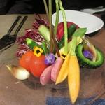 16012036 - 「地元野菜のバーニャカウダ」