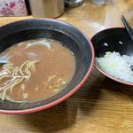 麺家 紫極 - 料理写真:ラーメン(食べかけ)