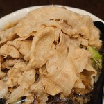 麺屋わっしょい - 料理写真:男の根性黒醤油+野菜大盛+オニク10枚 麺並♪
