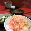 てんぷら天朝 - 料理写真:〆の天丼に熱々の赤出しとお新香
