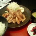 とんすけ - ハーブ豚のしょうが焼定食 700円 2012/11