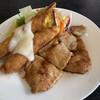 オレンジハウス - 料理写真:本日のランチ:ポーク生姜焼と海老フライ