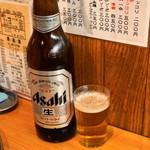 立飲みカドクラ - 2012.11 アサヒスーパードライの大瓶がなんと350円!