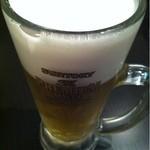立呑み厨房 いち - 2012.11.20 生ビール380円。プレミアムモルツはやっぱり美味しい♪