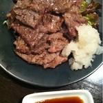 立呑み厨房 いち - 2012.11.20 でっかいビーフステーキ480円。今回はポン酢で♪
