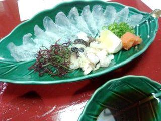 魚信旅館 - オコゼの薄造り