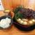 横浜家系ラーメン 伯耆家 - 料理写真:2021年10月 ラーメン並盛キクラゲMIX、うずら味玉、角煮とライス(960円)