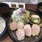 とんかつ 大希 - 上白ヒレかつ定食2000円