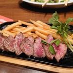 銀座ライオン - おつまみラムステーキ