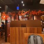 銀座ライオン - 店内は秋の雰囲気