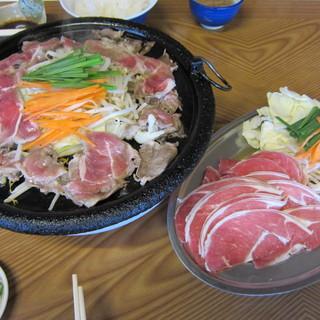 ドライブイン湯田 - 料理写真:ジンギスカン2人前@1000円