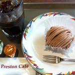 ラゴア カフェ - モンブラン+アイスコーヒー