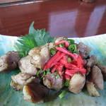 そば茶屋菖蒲庵 - 赤鶏炭焼き