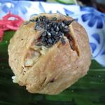 そば茶屋菖蒲庵 - 黒豚肉巻きおにぎり