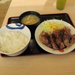 松屋 - トンテキW定食ごはん大盛り930円