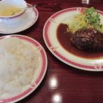 レストラン シマダ - ランチ、牛肉ハンバーグセット@850円