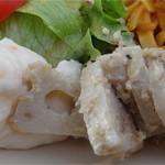 カフェリリオ - ごま和えのれんこんと、サラダ