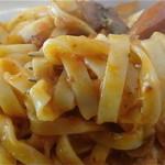カフェリリオ - 麺はタリアテッレorフェットチーネ。