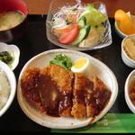 明日香 - 料理写真:【日替りランチ:煮込みハンバーグ】2012.10.29