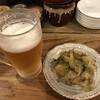 鍋家 - 料理写真:まずはザーサイ&ビール