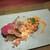 薫 HIROO - 料理写真:薫hiro流すき焼き(特産松阪牛フィレとパプリカに豆乳のベシャメルとスモークしたスカモルツァチーズ、玉取茸、葱)