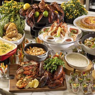 ロブスターなど海の幸を味わう秋のセミブッフェディナー