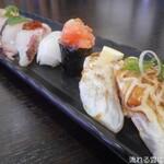 廻鮮寿し たいの鯛 - 料理写真:本日のおすすめにぎり