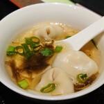 中国家庭料理 王園 - 令和3年10月 ランチタイム定食 ワンタンスープ