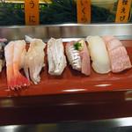 双葉寿司 - おまかせ寿司2,500円(一部)