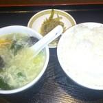16055382 - ライス、スープ、ザーサイのセット 350円