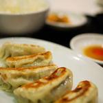 龍明樓 - セットの餃子
