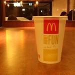 マクドナルド - 2012/11 ケイタイクーポンでマックシェイク バナナ(無果汁)(S)100円をオーダー