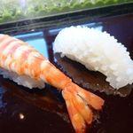 寿司割烹 「ともづな」 - 海老と烏賊・・普通に美味しい。