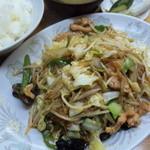 中華料理 喜楽 - 肉野菜炒め定食
