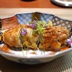 對馬 - 料理写真:昆布森の牡蠣の天ぷら