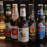 ダイニングバー KUU - アジアのビールにコロナも加わり、様々な味が楽しめます!