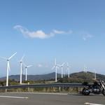 しらす食堂 - お店近くの佐田岬の尾根の上の景色です。
