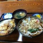 満留賀 - カツ丼セット1000円