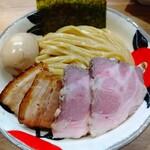 自家製麺 つきよみ - 特製魚介とんこつつけ麺 特盛 (*´-`)b