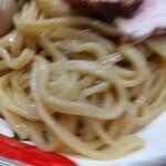 自家製麺 つきよみ - ぶれてたが全粒粉な自家製麺 (σ´∀`)σ NICE