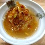 自家製麺 つきよみ - 〆ご飯 (*´-`)